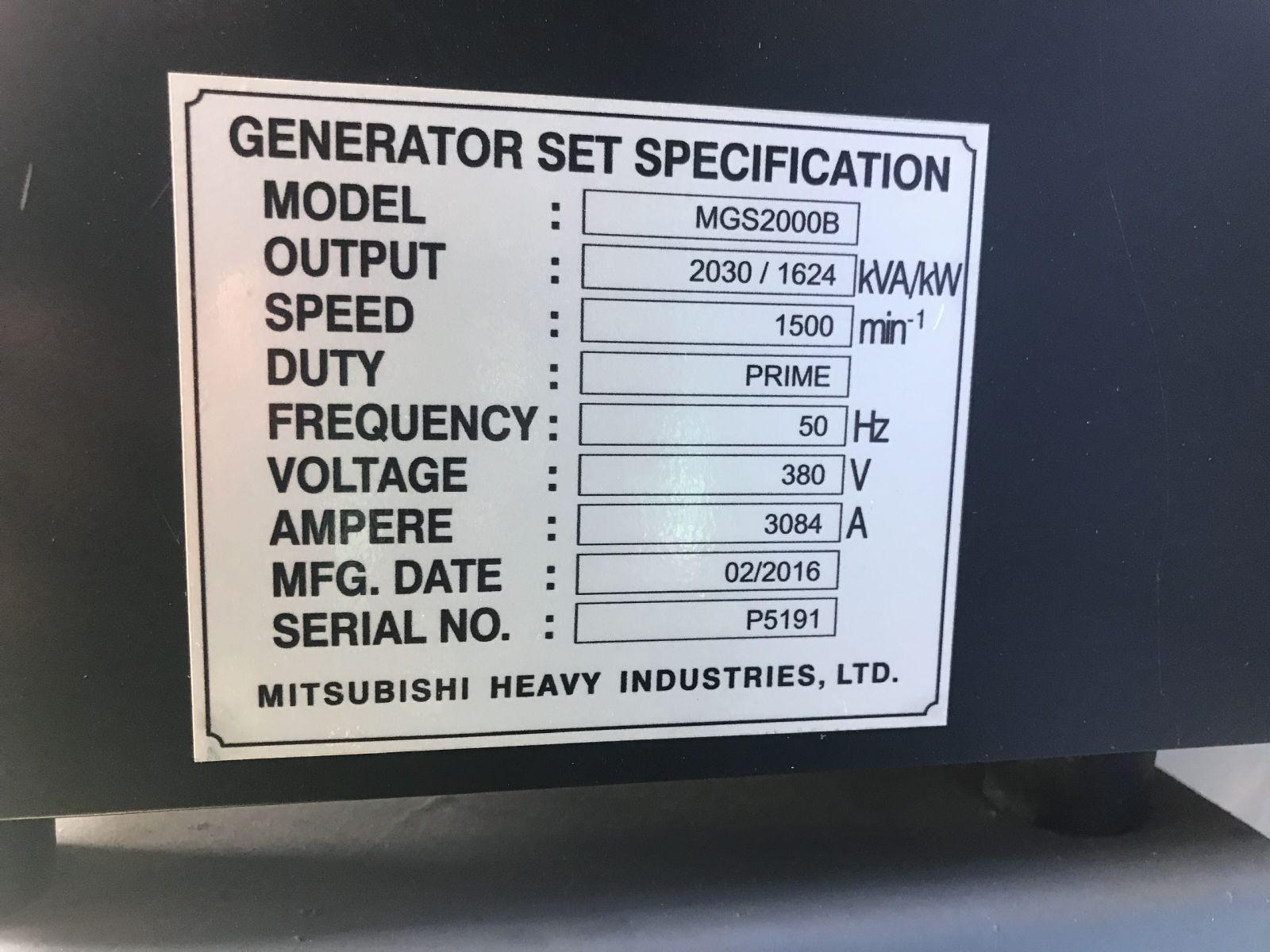 Tổ hợp máy phát điện Mitsubishi MGS200B
