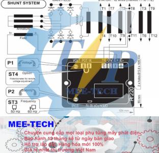 Bộ điều chỉnh điện áp (AVR) Leroy Somer R230